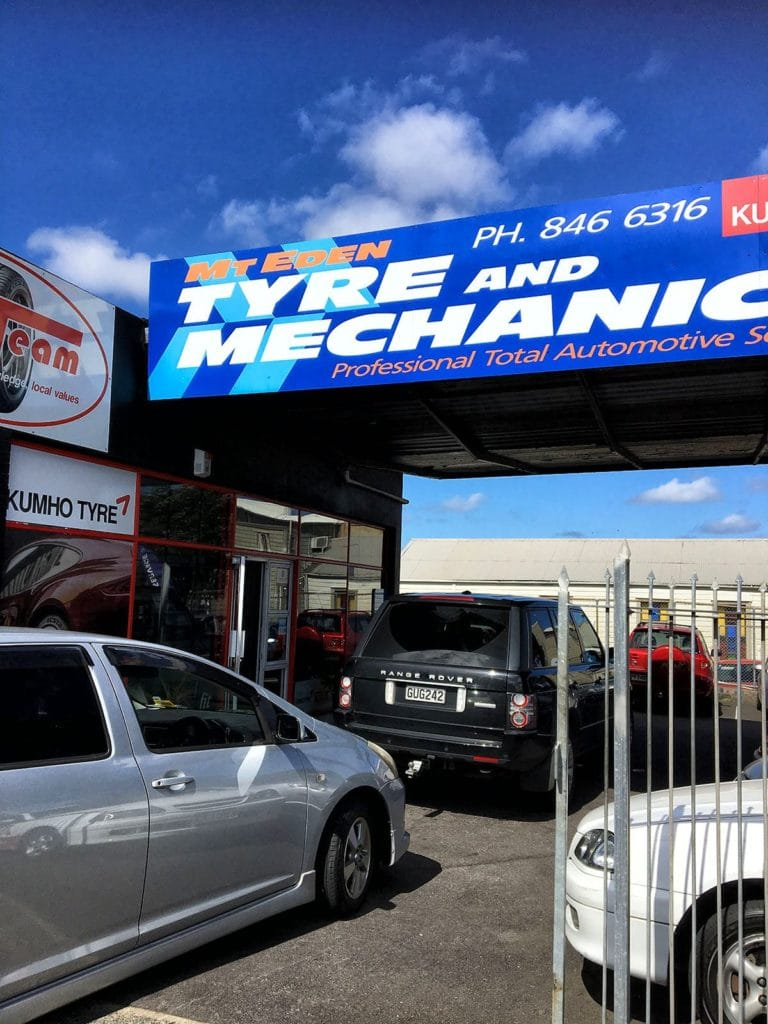Tyre repair shop