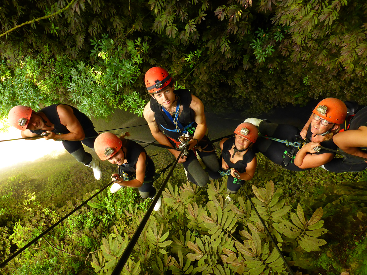 Abseiling into a lost world